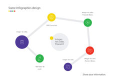 Infographic map. Useful for presentation, web design or advertisement. Royalty Free Stock Photos