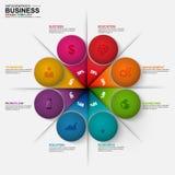Infographic-Marketing-Diagrammvektor-Designschablone Lizenzfreie Stockfotografie