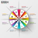 Infographic-Marketing-Diagrammvektor-Designschablone Lizenzfreie Stockfotos