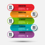 Infographic marketing vector design template. Can be used for workflow, business success, diagram Royalty Free Stock Photos