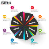 Infographic marketing vector design template Stock Photography