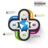 Infographic marketing vector design template Royalty Free Stock Image