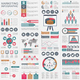 Infographic marketing vector design template. Can be used for workflow, startup Stock Photos