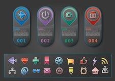 Infographic med diagram och samkvämsymboler Arkivbilder