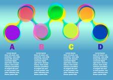 Infographic med färgrundan Arkivfoto
