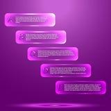 Infographic med glass objekt Royaltyfri Bild