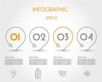 infographic med pekare Arkivbilder