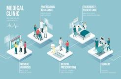 Infographic medicin och sjukvård vektor illustrationer