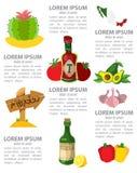 Infographic Meksyk Zdjęcie Royalty Free