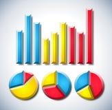 Infographic met grafiek en pasteidiagrammen Royalty-vrije Stock Foto's
