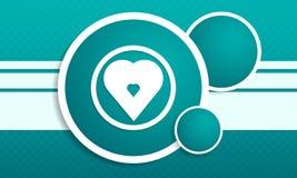 Infographic met hartpictogram op textureringsachtergrond Stock Afbeeldingen