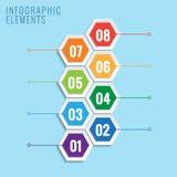Infographic met honingraatstructuur. Stock Afbeeldingen