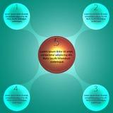 Infographic metaball Arkivbild