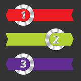 Infographic with metallic rings and ribbons. Infographic design with metallic rings and arrow ribbons Stock Photography