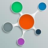 Infographic metasphere biel z udziałami okno dla teksta Fotografia Stock