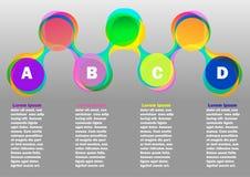 Infographic mit der Farbe rund Stockfotos