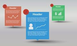 Infographic mit Diagrammen, Leuten und Verbindungen Stockfotografie