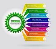 Infographic mit einfacher Elementdesignschablone Auszug Stockbilder