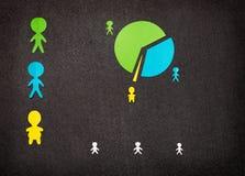 Infographic mit Fett und mageren Leuten lizenzfreie stockbilder