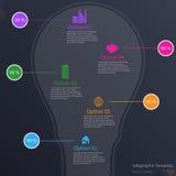 Infographic mit Glühlampe Stockbild