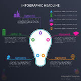 Infographic mit Glühlampe Lizenzfreies Stockfoto