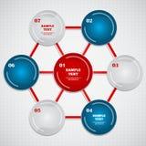 Infographic mit Hexagon und bunten Ringen? Lizenzfreie Stockfotografie
