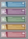 Infographic mit Zahlen Stockbild