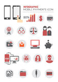 INFOGRAPHIC MOBILE PAYMENTS ICON. Stock Images