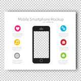 Infographic Mockup device Smartphone Presentation Template, Business Layout design , Modern Style. Royalty Free Stock Photography
