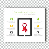 Infographic Mockup device tablet Presentation Template Royalty Free Stock Image