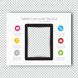 Infographic Mockup device tablet Presentation Template, Business Layout design , Modern Style. Stock Photography
