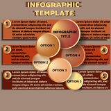 Infographic model with chaotic circles