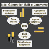 Infographic modelo de B2B Imagen de archivo libre de regalías