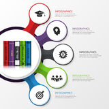 Infographic. Modern design template with books. Vector Stock Photos