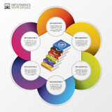 Infographic. Modern design template with books. Vector illustration Stock Photos