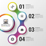 Infographic. Modern design template. Colorful circle with icons. Vector illustration Royalty Free Stock Photo