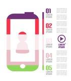 Infographic modern minsta mobiltelefon Royaltyfri Bild