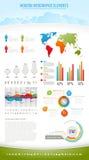 infographic modern natur för element vektor illustrationer