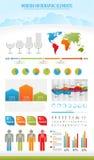 infographic modern natur för element stock illustrationer