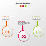 Infographic modern Options template. For any business use Royalty Free Stock Photo
