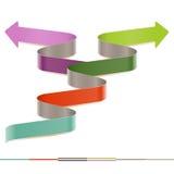 Infographic modern sicksack, mall för pappers- remsa för moment arkivfoton