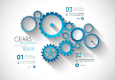 Infographic Modern Style Concept background Stock Image