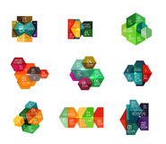 Infographic modern templates - geometric shapes Stock Photography