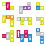Infographic modern templates. Stripes for banners, business backgrounds and presentations. Royalty Free Stock Photo