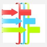 Infographic moderne avec les rubans colorés illustration de vecteur