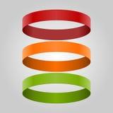 Infographic moderne avec les rubans colorés Photo stock