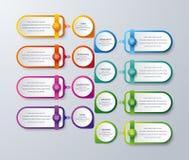 Infographic moderne avec vert, pourpre, l'orange, et la couleur bleue peut être employé pour votre processus, étapes, disposition illustration libre de droits