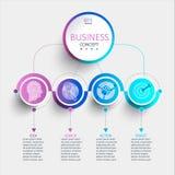 Infographic moderne créatif avec 4 étapes illustration de vecteur