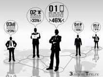 Infographic moderne d'homme d'affaires illustration libre de droits