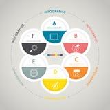 Infographic moderne pour le concept d'affaires Images stock